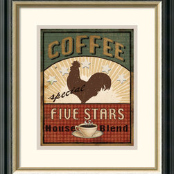 Amanti Art - Coffee Blend Label III Framed Print by Daphne Brissonnet - Declare your love for coffee in this playful retro styled print by Daphne Brissonnet.