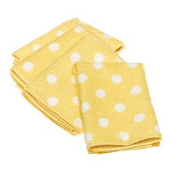 DII Microfiber Dots Dishcloth, Citrus - These polka dot napkins are an easy way to add some kitsch.