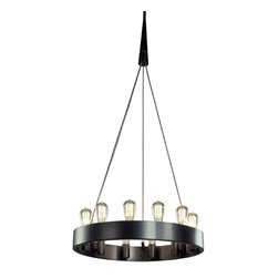 Robert Abbey - Robert Abbey Rico Espinet Candelaria 24 Inch Chandelier, Deep Patina Bronze - Rico Espinet's Candelaria Collection for Robert Abbey features a 12 light chandelier with edison style bulbs in either a brushed nickel or deep patina bronze finish.