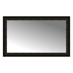 """Posters 2 Prints, LLC - 48"""" x 29"""" Mantilla Expresso Custom Framed Mirror - 48"""" x 29"""" Custom Framed Mirror made by Posters 2 Prints. Standard glass with unrivaled selection of crafted mirror frames.  Protected with category II safety backing to keep glass fragments together should the mirror be accidentally broken.  Safe arrival guaranteed.  Made in the United States of America"""