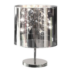 Celestial Gaze Table Lamp - Whether you need a funky but sophisticated splash of light in your living room or a unique bedside lamp, the Celestial Gaze Table Lamp will light up any room. With twelve 25W half-chromed bulbs and a fully chrome-plated base, this Celestial Gazer can stand well on its own and blend with just about any d�_�cor�ۡ����be creative and shine!