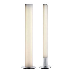 "BELUX - BELUX Leia Floor Lamp - The Leia floor lamp from Belux was designed by Naoto Fukasawa in 2009.  This floor lamp provides a powerful yet glare free light through the opal film the lower semi-transparent part of the lamp creates a lightness as if the lamp is floating on air. The sleek clean lines of the Leia floor lamp creates a modern contemporary look in any room. This high quality floor lamp is made in Switzerland and features the highest standards in materials and craftsmanship.  Product description: The Leia floor lamp from Belux was designed by Naoto Fukasawa in 2009.  This floor lamp provides a powerful yet glare free light through the opal film the lower semi-transparent part of the lamp creates a lightness as if the lamp is floating on air. The sleek clean lines of the Leia floor lamp creates a modern contemporary look in any room. This high quality floor lamp is made in Switzerland and features the highest standards in materials and craftsmanship.                 Details:                         Manufacturer:                        Belux                                                 Designer:                        Naoto Fukasawa                                         Made in:                        Switzerland                                         Dimensions:                        Width: 16.9"" (43 cm) X Height: 84.8"" (215.3 cm)                                          Light bulb::                        1 X 300W R7s Halogen             1 X 49W Fluorescent                                         Material:                                                                                                            Metal,PMMA"