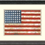 Amanti Art - Flag, 1954-55 Framed Print by Jasper Johns - \'One night I dreamed that I painted a large American flag,\' Jasper Johns said, \'and the next morning I got up and I went out and bought the materials to begin it.\'