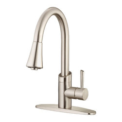 Belle Foret - Belle Foret BF406SS Pull Down Kitchen Faucet in Stainless Steel - Belle Foret BF406SS Pull Down Kitchen Faucet in Stainless SteelThe Belle Foret collection includes a full range of kitchen and bath faucets, copper basins, bathtubs, and bath vanities in timeless finishes to perfectly complement any décor. True to the Country French design, these distinctively elegant faucets and fixtures are graced by the rich patina of time - without the wait or expense.This Belle Foret pull-down Kitchen faucet is the perfect choice for your new kitchen makeover. Its contemporary design will bring a bold statement your new kitchen makeover. Pull-down sprayer makes washing dishes and cleaning out your sink more convenient.Belle Foret BF406SS Pull Down Kitchen Faucet in Stainless Steel, Features:• Pull-Down Kitchen Faucet