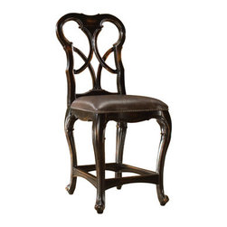 Celeste Counter Stool - A perfect match to the Celeste gathering table, this counter stool features an antique ebony finish.