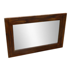 MyBarnwoodFrames - Rustic Heavily Distressed Wood Mirror Sedona - Sedona  Style  Rustic  Mirror  with  Heavy  Distressing  21x32          This  mirror  is  available  in  customs  sizes.  Please  call  for  pricing,  888-653-2276.          This  beautifully-crafted  rustic  wood  mirror  features  a  natural  alder  wood  frame  with  rich  walnut  stain  and  a  dark  glaze  that  highlights  the  texture  and  color  tones  in  the  heavily-distressed  wood  frame.  Handmade  in  the  USA,  and  available  in  several  sizes,  including  custom  sizes,  this  rustic  mirror  will  highlight  any  rustic,  or  casual  decor.                  Frame  width  is  3.5  inches,  depth  is  .75  inch              Natural  alder  wood              Dark  walnut  stain  with  espresso  glaze              Available  in  standard  and  custom  sizes              Made  in  USA                    Corner  Detail