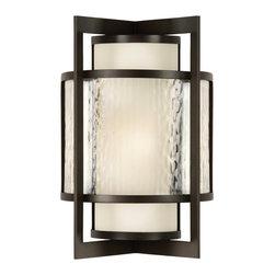 Fine Art Lamps - Fine Art Lamps 818281 Singapore Dark Bronze Patina Outdoor Wall Sconce - 2 Bulbs, Bulb Type: 15 Watt CFL Mini Spiral; Weight: 18lbs