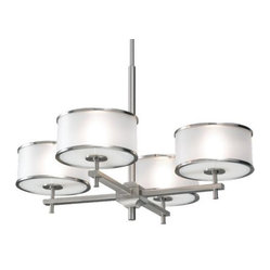 Casual Luxury 4-Light Chandelier