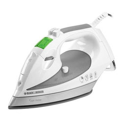 Black & Decker - Black & Decker D1650 Digital Iron - Keep your clothes looking their best with this digital Black & Decker iron. The iron features adjustable temperature controls,an automatic shutoff function,and a scratch-resistant plate with even heat distribution to protect your garments.