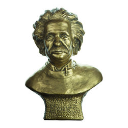 Casa de Arti - Sculpture of Albert Einstein The Genius Bust Figurine Statue - Beautiful piece to add to your home or office decor at an incredible price.