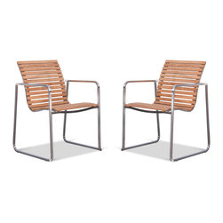 Saran Garden Chair Set - Currently out of stock. - The Saran Garden Chair features an understated frame with a comfortable seat. Whether in a garden or on a patio, the Saran Garden Chair is the ideal place to sit and relax.