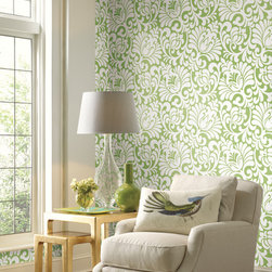 Wallet Friendly Wallpapers - This lively pattern - perfect for a feature wall – beautifully defines a stylish space for about $100.