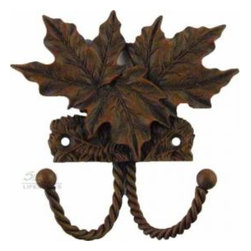Decorative Hooks - A decorative hardware can transform and enhance any room.  This decorative rust hook, 681039, by Sierra Lifestyles,  is just one of the great choices in their Rustic and Western Collection.  The country, lodge or vintage room will certainly benefit from this beautiful nature and leaves theme double hook.