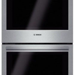 "Bosch - HBL5551UC 500 Series 30"" Double Wall Oven with Heavy Duty Knobs  Self-Clean  Lar - The Bosch wall oven installs flush and features heavy metal stainless steel knobs Hate cleaning The EcoClean 2 hour self-clean cycle will make your life easier by burning away the most difficult of charred spills The inside capacity is large at 46 cu..."