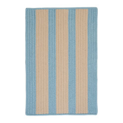 Indoor/Outdoor Boat House, Light Blue Rug, Sample Swatch