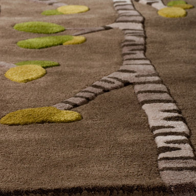 Birch, Hand-Tufted Wool Rug - A fresh and modern interpretation of a Birch forest. angela adams hand-tufted wool rugs are incredibly unique, textural and timeless. Made with 100% New Zealand wool. Multi-dimensional cut pile.
