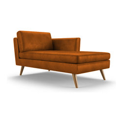 Shop midcentury chaise lounge chairs on houzz for Ava chaise lounge