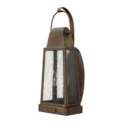 Hinkley Lighting - Hinkley Lighting 1774SN Sedgewick Transitional Outdoor Wall Sconce - Sedgwicks all brass construction symbolizes the best of vintage Hinkley quality and style. This traditional tapered rectangular lantern features a charming hinged door with sliding latch for authentic appeal. The classic Sienna finish combines beautifully