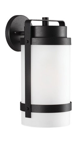 Sea Gull Lighting - Sea Gull Lighting 8722401-12 Bucktown 1-Light Outdoor Wall Lantern in Black - The Sea Gull Lighting Bucktown 1-Light outdoor wall fixture in black enhances, the beauty of your property, makes your home safer, and more secure and increases the number of pleasurable hours you spend outdoors.