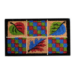 Imports D̩cor - Leaves Rope Door Mat (ID300BCM) - Leaves Rope