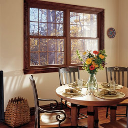 Dining Room Windows: Double Hung - Double hung vinyl replacement windows from Feldco.
