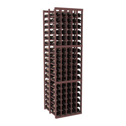 Wine Racks America - 5 Column Double Deep Wine Cellar in Pine, Walnut + Satin Finish - Get double the wine storage capacity without using more of your walls. Fit 15 cases of wine on less than 2 ft of wall space. Designed for beauty and functionality, this rack will satisfy your needs and withstand the test of time. We guarantee it.