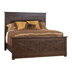 Riverside Furniture - Riverside Furniture Windridge Panel Bed in Sagamore Burnished Ash - Riverside Furniture - Beds - 7657XWindridgePanelBed -Riverside's products are designed and constructed for use in the home and are generally not intended for rental, commercial, institutional or other applications not considered to be household usage.