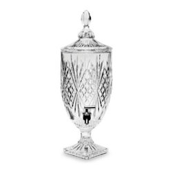 Godinger - Godinger Dublin Crystal 1-Gallon Beverage Dispenser - For those who love to entertain, fill this beverage dispenser with iced tea, lemonade or any other thirst quencher. Your guest can help themselves to drink after drink with the easy to use high quality spigot.