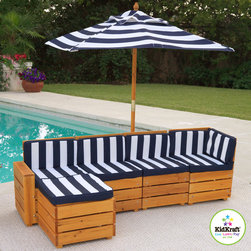 KidKraft Kids Outdoor 5-Piece Sectional - How. Cute. Is. This?