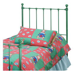 Hillsdale - Hillsdale Molly Twin Metal Headboard in Green - Hillsdale - Headboards - 1089340 - Classic country styling and cottage charm make the Molly Headboard a practical and stylish choice for either a boy's or girl's room. Featuring decorative castings and a cleanly rustic white finish this headboard offers a warm and inviting sensibility to any room.