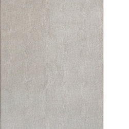Sands Rug Co. - Soft Sands Ivory Area Rug (8' x 10') - Indulging the senses with its exceptionally soft polyester, the warm neutral tones will add a touch of simplistic elegance. This solution dyed area rug has an inherent stain and fade resistance, making this rug great for high traffic areas. The understated, carved horizontal pattern creates visual appeal for all to enjoy.  The soft yarn, and low pile make this a great rug for any room. Boasting coordinating serged edges and action backing, this rug is perfect for your home or office.