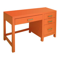 Newport Cottages - Ricki Desk - Talk about a desk with staying power! In addition to its simple good looks and rectangular lines, the Ricki desk gives you ample room for storage with its four glide drawers. It's the ideal addition to any office or room in your home.