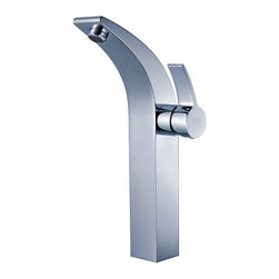 Kraus - Kraus Illusio Single Lever Vessel Faucet with Pop Up Drain Chrome - *Perfection, precision and style may seem as an Illusion in real life.  At Kraus, Illusion may just be your reality