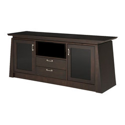 "Furnitech - 70"" Contemporary Asian TV Media Console WENGE - 70"" Contemporary Asian TV Media Console for Flat Screen and Audio Video Installations"