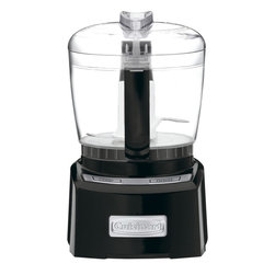 Cuisinart - Cuisinart Elite Collection 4-Cup Chopper/Grinder, Black - SmartPower blade has a patented auto-reversing ability with a sharp edge for delicate chopping and pureeing soft foods, while the blunt edge grinds through spices and harder foods