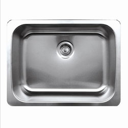 Whitehaus - Whitehaus Whnu2519 Noah's Single Bowl Sink - Single bowl undermount sink