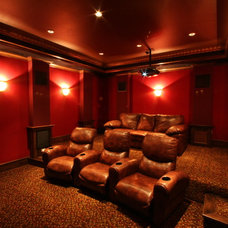 Traditional Home Theater by Greenway Renovations and Custom Homes
