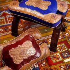 mediterranean ottomans and cubes by From Morocco With Love