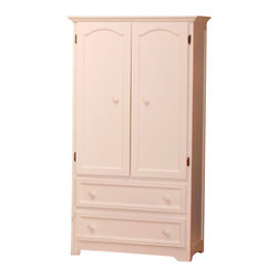 Atlantic Furniture - Atlantic Furniture Manhattan TV/Wardrobe Armoire in White - Atlantic Furniture - Armoires - C71902 - The Manhattan TV/Wardrobe Armoire is a perfect example of casual country chic. The vertical detailing of the side panels creates both balance and visual interest. With its distinct contemporary cottage feel it is sure to be the focus of any room.