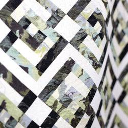 Lozenge Upholstery Fabric, Oyster, Yard - 1 YARD MINIMUM ORDER