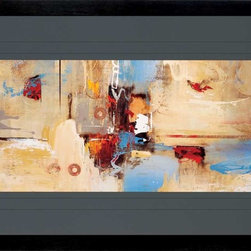 Paragon Decor - Epic Story I Artwork - A stunning contemporary abstract in a large format triple matted in charcoal.