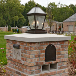 Brick With Columns Outdoor Lighting Find Solar Lights And