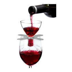 "Metrokane Rabbit Swish Wine Aerator - Aerate your red wine with the new Metrokane Rabbit Swish.  Just place the Rabbit Swish Aerator on a wine glass and pour red wine through it.  You create a ""wine shower"" right in the glass to soften the wine  improve its taste  and enhance its bouquet.  The Rabbit Swish also has a fine-mesh screen that removes sediment that may settle in fine wines.Every red wine tastes better when you ""Swish it.""Product Features                        Aerate your wine as you pour it in your glass             Glass and stainless steel construction             Enhances the flavor of any red wine instantly            Fine mesh screen to filter sediment from fine wines             Lucite packaging doubles as a storage case"