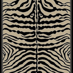 Ottomanson - Black Animal Print Zebra Design Area Rug - If you can put a tiger in your tank you can put a zebra on your floor. If you like a little wild in your decor, you're going to love this area rug. The price is perfect and the rug is stain-resistant so it's designed for high traffic areas.