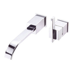 "Danze - Danze D216044T Chrome Wall Faucet Trim One Handle - Danze D216044T Chrome Single Handle Wall Mount Faucet Trim Kit is part of the Sirius collection.  D216044T 2 Hole Wall Mount Lavatory Faucet trim requires D106900BT valve, sold seperately.  D216044T Wall Mount faucet trim has a 10"" long spout, with metal touch down drain assembly.   D216044T meets all requirements of ADA, California and Vermont compliant."