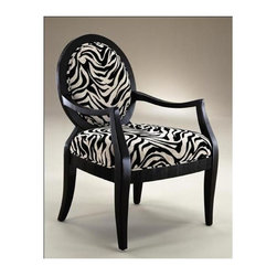 Comfort Pointe - Lansing Accent Chair with Zebra Print - Made from solid wood. Transitional style. Hand-carved. Swopped comfortable arms. Fluted seat rails with smooth clean lines. Zebra print chenille fabric upholstery in plush off-white and black. Warranty: One year limited. Assembly required. Seat height: 18 in.. Overall: 27 in. W x 26 in. D x 38 in. H (28.5 lbs.)The Lansing chair adds style and class to any room. This chair is sure to be a staple in your home for years to come.