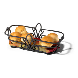 Spectrum Diversified Designs - Patrice Bread Basket - Black - The Patrice Bread Basket is ideal for serving bread, rolls and muffins. Made of sturdy black steel and accented with a fleur de lis motif. A favorite hospitality item for restaurants and hotels.