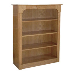 Chelsea Home Furniture - Chelsea Home Passaic 48 Inch Bookcase in Red Oak - This 48-inch Passaic Bookcase in red Oak and red Sienna finish, gives your living space a rustic feel. It comes complete with 3 adjustable shelves to help you perfectly display all of your favorite novels and textbooks. Add this piece to your home office, library or living room for a cozy country motif. Chelsea Home Furniture proudly offers handcrafted American made heirloom quality furniture, custom made for you. What makes heirloom quality furniture? It's knowing how to turn a house into a home. It's clean lines, ingenuity and impeccable construction derived from solid woods, not veneers or printed finishes over composites or wood products _ the best nature has to offer. It's creating memories. It's ensuring the furniture you buy today will still be the same 100 years from now! Every piece of furniture in our collection is built by expert furniture artisans with a standard of superiority that is unmatched by mass-produced composite materials imported from Asia or produced domestically. This rare standard is evident through our use of the finest materials available, such as locally grown hardwoods of many varieties, and pine, which make our products durable and long lasting. Many pieces are signed by the craftsman that produces them, as these artisans are proud of the work they do! These American made pieces are built with mastery, using mortise-and-tenon joints that have been used by woodworkers for thousands of years. In addition, our craftsmen use tongue-in-groove construction, and screws instead of nails during assembly and dovetailing _both painstaking techniques that are hard to come by in today's marketplace. And with a wide array of stains available, you can create an original piece of furniture that not only matches your living space, but your personality. So adorn your home with a piece of furniture that will be future history, an investment that will last a lifetime.