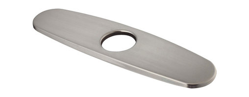 Vigo - VIGO Stainless Steel Finish Escutcheon - The simple design of this 10-inch escutcheon/deck plate makes it an ideal choice to complete three-hole installations in a variety of commercial or home applications.