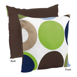 Sweet Jojo Designs - Designer Dot Decorative Accent Throw Pillow by Sweet Jojo Designs - The Designer Dot Decorative Accent Throw Pillow by Sweet Jojo Designs, along with the  bedding accessories.